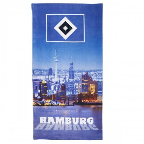 """HSV Strandtuch """"Hamburger Hafen"""" 76x152cm"""