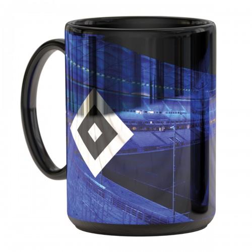 HSV Metallic Tasse 'Stadion blau'