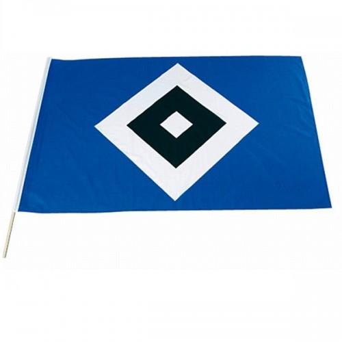 HSV Fahne 'Raute' mit Stock