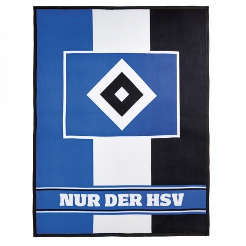 HSV Fleecedecke Blockstreifen 150x200cm