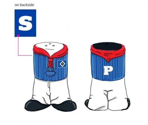HSV Salz- und Pfefferstreuer Set Matrose