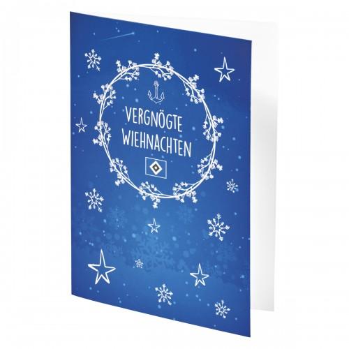 HSV Grußkarte Vergnögte Wiehnachten
