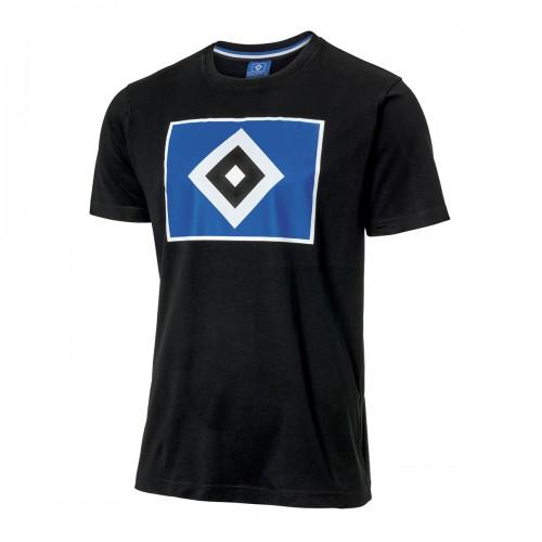"""HSV T-Shirt """"Raute"""" schwarz"""