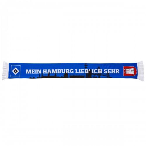 """HSV Schal """"Mein Hamburg lieb ich sehr"""""""