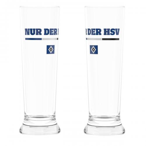 HSV Weizenbierglas 2er-Set 'Nur der HSV'