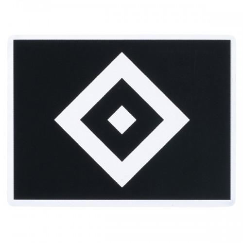 """HSV Aufkleber transparent schwarz """"Raute"""""""