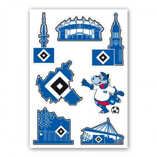 "HSV Aufkleber-Set ""Hamburg"""