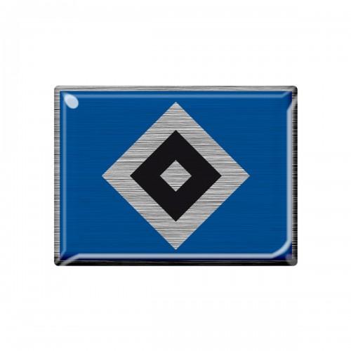 "HSV 3D Aufkleber Metallic ""Raute"""