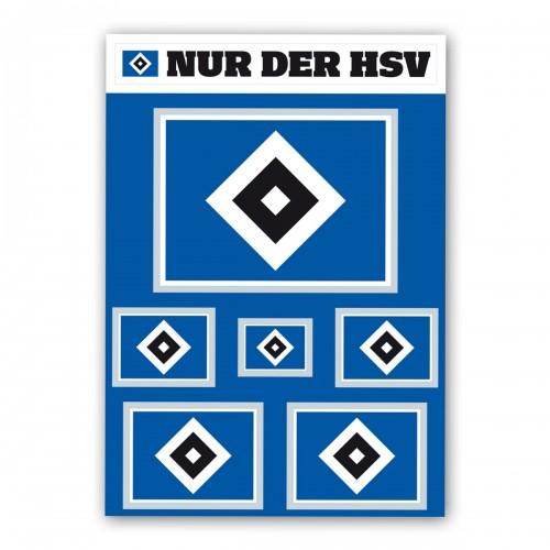 "HSV Aufkleber-Set ""Raute"""